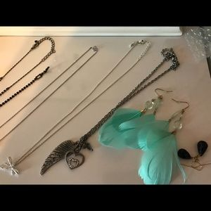Large lot of silver & costume rhinestone jewelry